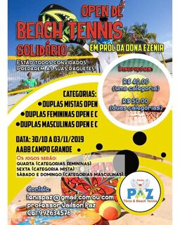 Torneio de Beach Tennis para ajudar aposentada que perdeu casa começa hoje