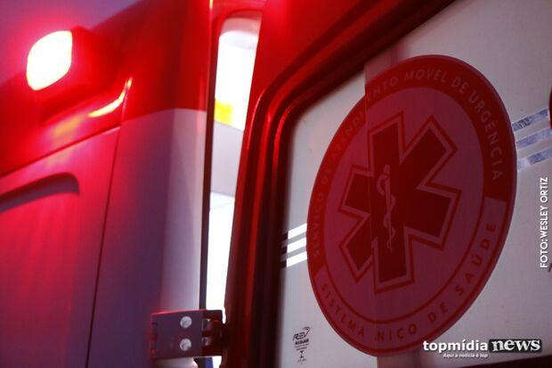 Motociclista sofre acidente, é socorrido pelo Samu, mas não resiste em Campo Grande