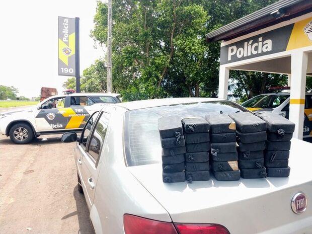 Comerciante de MS é preso com 30 tabletes de pasta base de cocaína em rodovia paulista