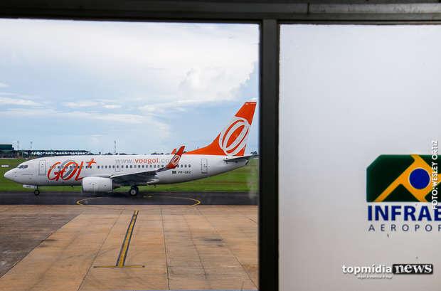 Sábado amanhece nublado e Aeroporto de Campo Grande opera por instrumentos