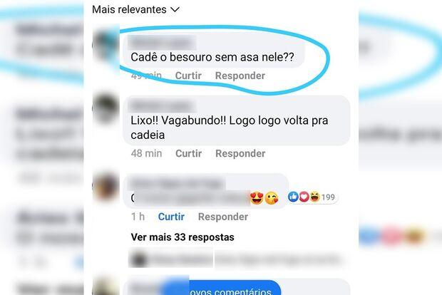 Opositor de Lula, internauta questiona: 'cadê o besouro sem asa nele?'