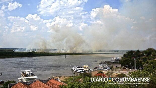 Chuva em Corumbá foi 'rapidinha' e alerta contra incêndios florestais continua