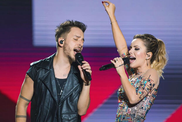 Sandy e Junior encerram turnê neste sábado e cantam para mais de 100 mil pessoas