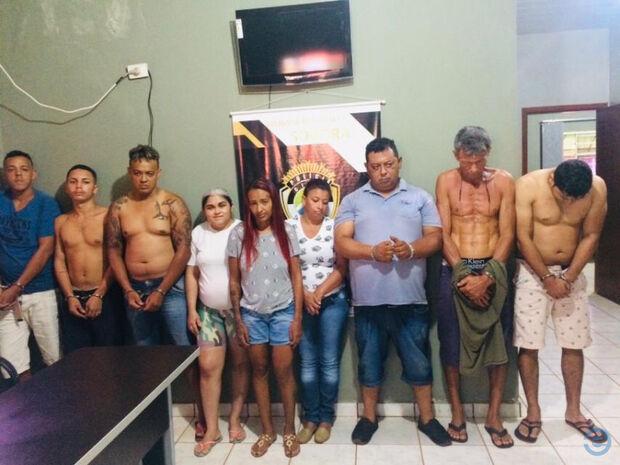 Operação contra tráfico de drogas envolve 31 policiais e termina com 12 presos em Sonora