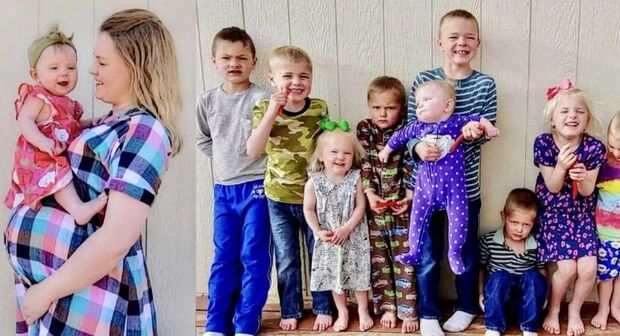 Mulher tem dez filhos e dispara: 'estou sempre grávida'