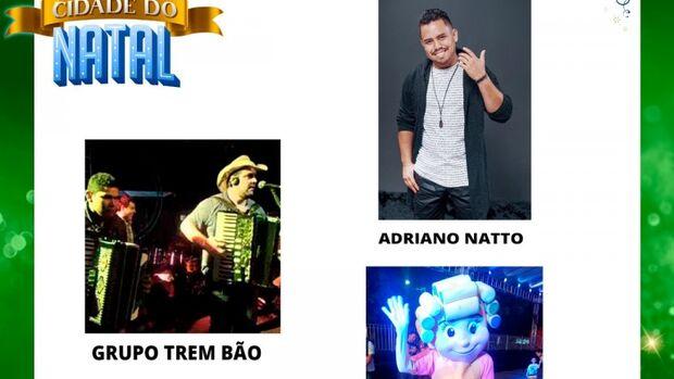 Cidade do Natal tem Trem Bão e Adriano Natto nesta sexta-feira