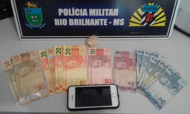 Menor é flagrado com droga e dinheiro dentro da cueca em Rio Brilhante