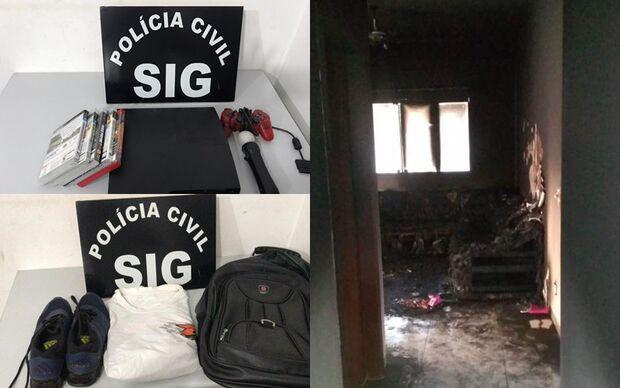 Ladrão que furtou e incendiou casa é ouvido e liberado pela polícia
