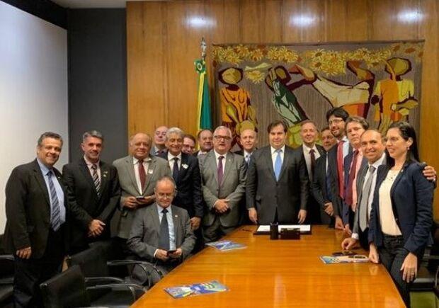 Assomasul participa de reunião com presidente da Câmara Federal