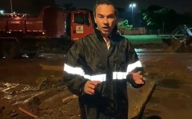 Após chuva destruidora, Marquinhos mostra trabalho de recuperação no mesmo dia