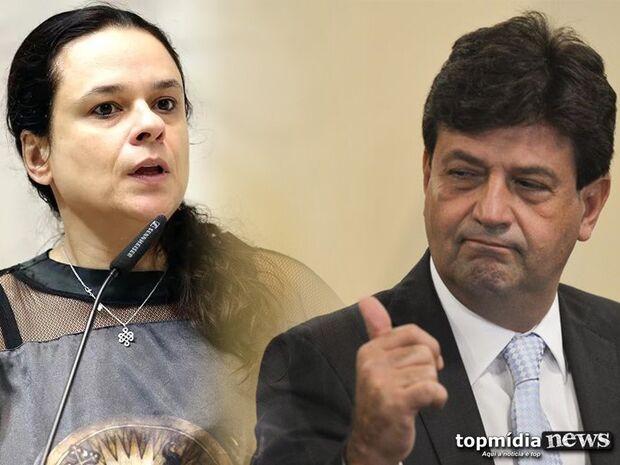 Ministro de MS, Mandetta recebe apoio de Janaina Paschoal após discurso de Bolsonaro