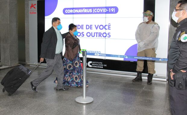 Passageiros com suspeitas de Covid-19 serão encaminhados para atendimento médico
