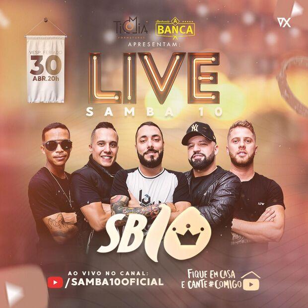 Grupo Samba 10 faz live para ajudar o Hospital do Câncer de Campo Grande