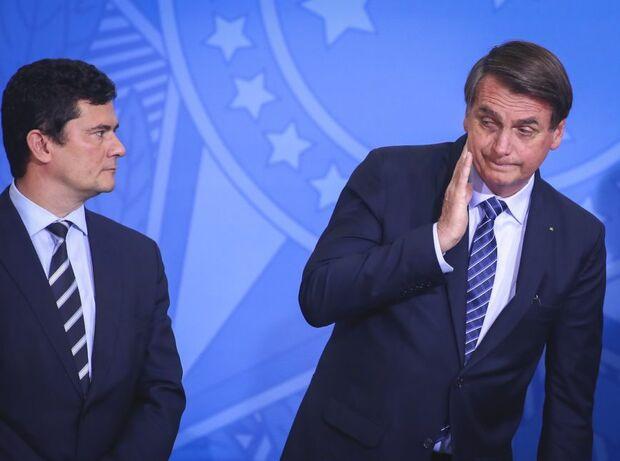 Ao JN, Moro exibe prova 'batom na cueca' contra Bolsonaro