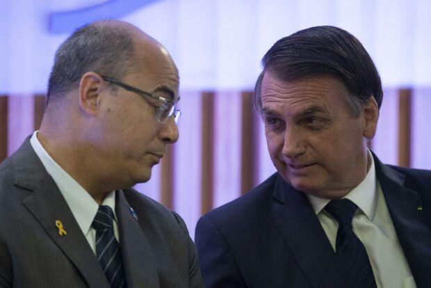 Bolsonaro parabeniza PF  sobre operação contra Witzel