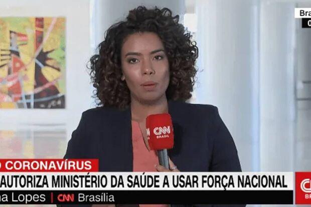 Hostilizada por bolsonarista, repórter da CNN interrompe transmissão ao vivo