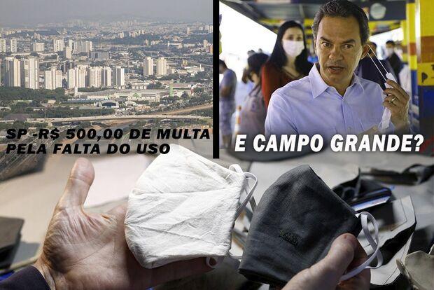 Definida multa de R$ 500 para quem não usar máscara nas ruas