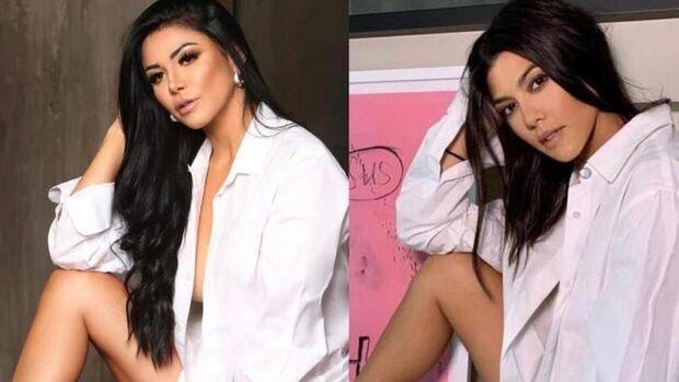 O QUE ACHA? Brasileira gasta 1 milhão em plásticas para parecer com Kourtney Kardashian