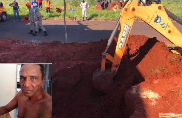 Idoso de 80 morre soterrado ao escavar fossa em Naviraí