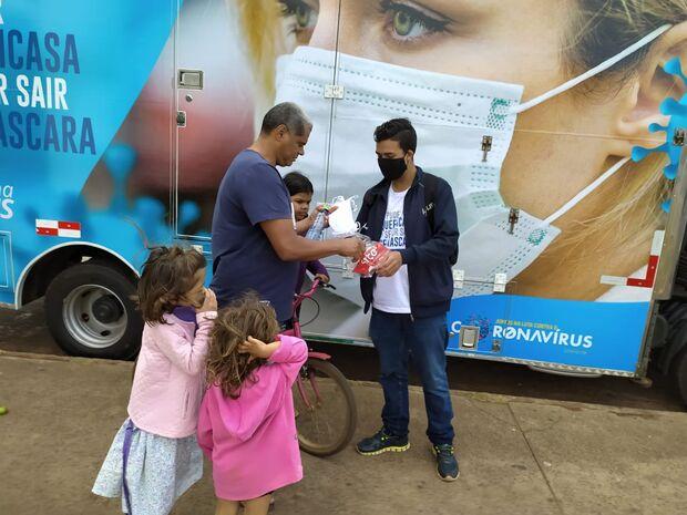 Campanha distribui 50 mil máscaras nesta sexta-feira em Campo Grande