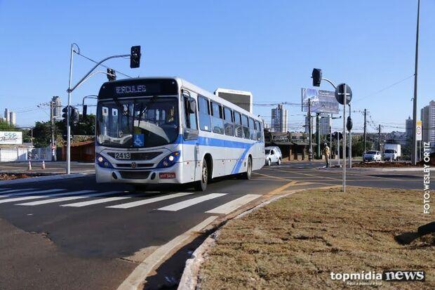 Motoristas de ônibus fazem paralisação em Campo Grande