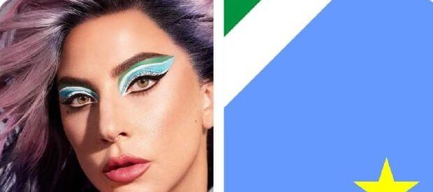 Lady Gaga usa maquiagem azul e verde e fã arrisca que é homenagem a MS