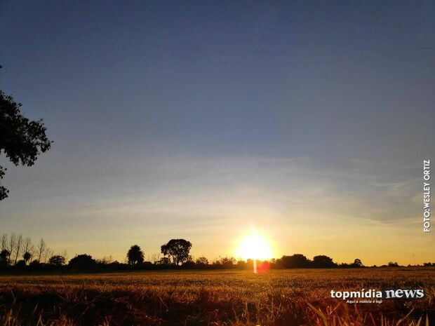 Sol predomina e domingão será quente e seco em Mato Grosso do Sul