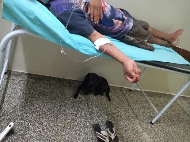 Enfermeiro se comove ao ver cão lutar para ficar com dono internado em Anastácio