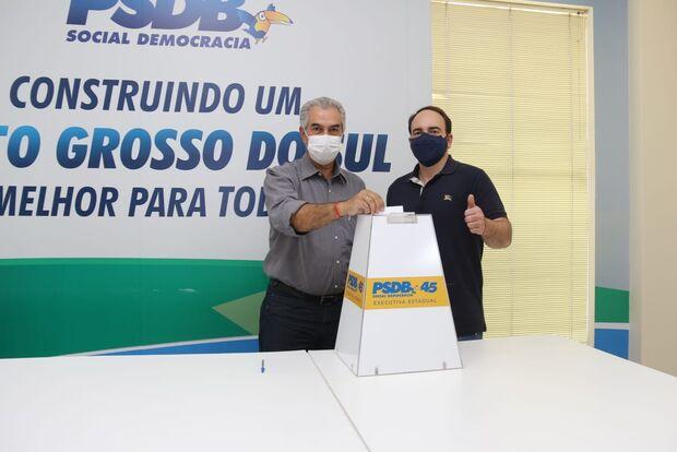 É real oficial: com presença de Reinaldo, PSDB confirma apoio a Marquinhos