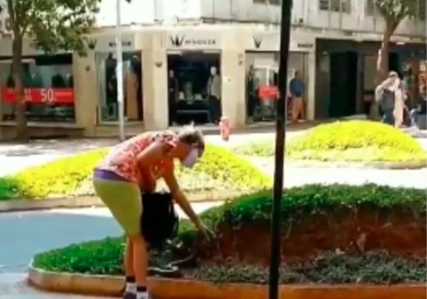 Mulher leva cobra para passear e cena viraliza nas redes sociais