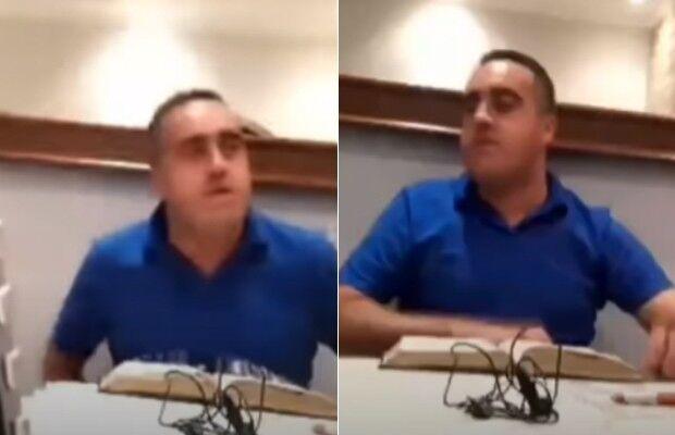 Pastor xinga esposa de imbecil e inicia live com 'paz do senhor'; veja o vídeo