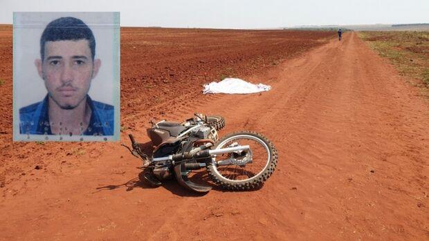 Corpo de motociclista é achado em estrada rural de Paraíso das Águas