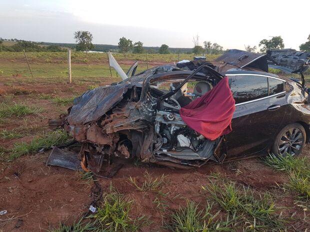 Acidente com atropelamento de capivara deixa dois mortos próximo de Nova Andradina