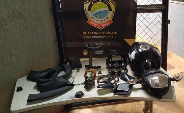 Bando é preso por furtar peças de motos apreendidas no Detran de Nova Alvorada