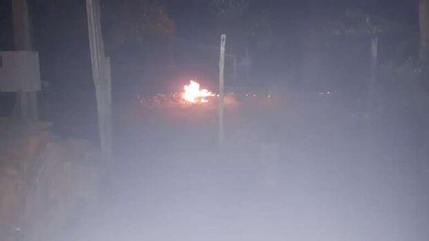 Dono de rancho é multado após colocar fogo em terreno e incomodar vizinhos