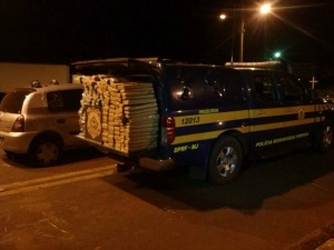 PRF apreende 246 quilos de maconha em Ponta Porã