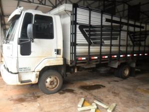 Traficante é preso transportando droga em caminhão boiadeiro
