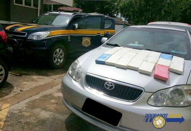 Casal é preso com 21 kg de cocaína em carro de luxo blindado
