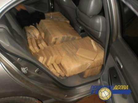 Foragido da justiça é preso com 300 Kg de maconha na MS 276