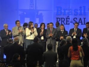 Dilma comemora resultado do leilão de Libra e diz que não é privatização