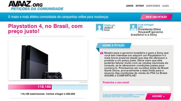 PS4: petição online contra preço do console reúne mais de 120 mil fãs