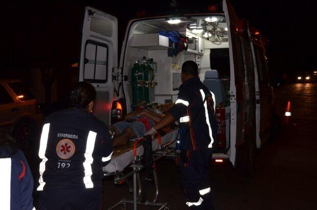 Motociclista é hospitalizado após se envolver em acidente em Três Lagoas