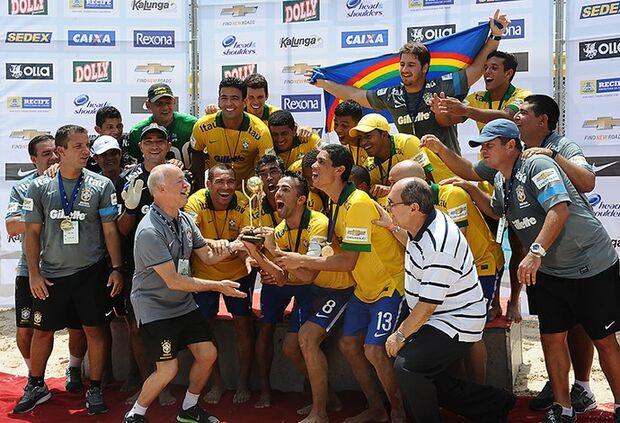 Futebol de areia: Brasil vence Portugal e é campeão da Copa das Nações