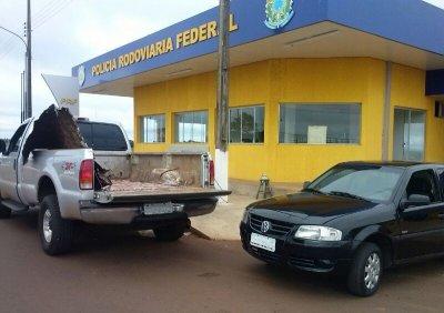 PRF encontra quase 200 quilos de maconha em fundo falso de carro