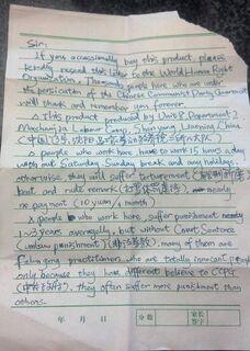 Carta de socorro descoberta em brinquedo chinês ainda preocupa
