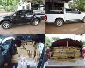 Polícia apreende 1.815 tabletes de maconha e duas caminhonetes