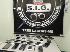 Quadrilha é presa após roubar e revender 56 celulares de loja