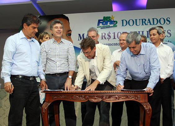 Governador inaugura e lança obras de saneamento no valor de R$ 107 mi em Dourados
