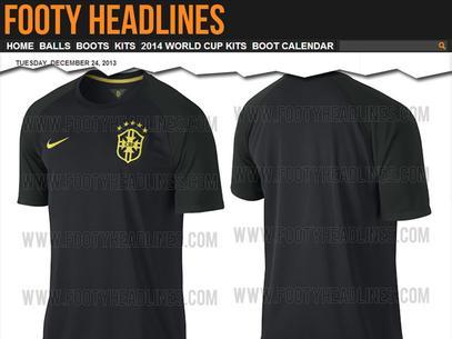 Site vaza nova 3ª camisa do Brasil para a Copa do Mundo