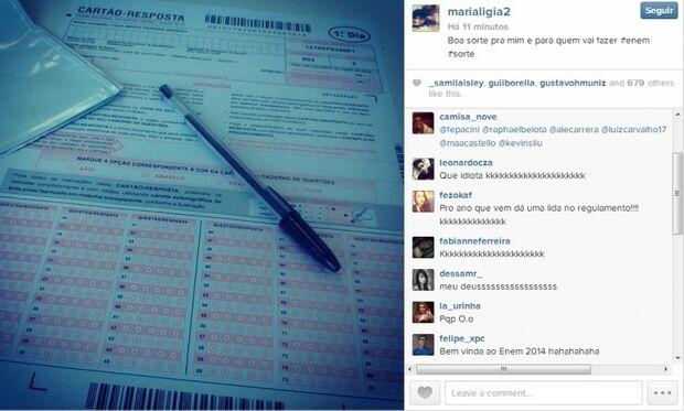 Estudante da Capital desobedece edital do Enem e posta foto da prova em redes sociais